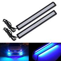 Blue Super Bright Car COB LED Lights DRL Fog Driving'Lamp Waterproof 17CM DC HO