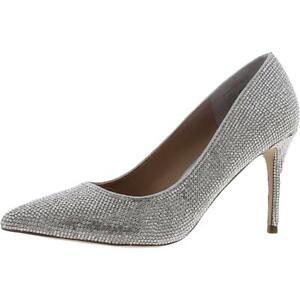 Steve Madden Womens Attract Silver Dress Heels Evening 5 Medium (B,M) BHFO 4860