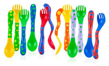 Spoons & Forks Toddler Training Utensils Colorful Kids Baby Feeding 4 Pack