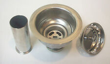 Heavy Duty Kitchen Deep Cup Style Sink Strainer w/ Tailpiece in Polished Chrome
