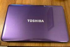 Toshiba Satellite Portátil, Windows 8, disco duro de 1TB, púrpura