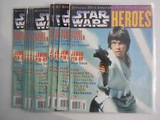 1X STAR WARS HEROES #1 Vintage Official 20th Anniversary Poster Magazine VF/NM