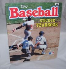 Topps Baseball Sticker Album 1980 Partially Completed