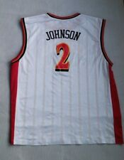 ATLANTA HAWKS #2 JOE JOHNSON NBA JERSEY ADULT 2XL REEBOK TEAM APPAREL WHITE
