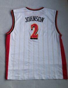 ATLANTA HAWKS #2 JOE JOHNSON NBA JERSEY ADULT 2XL REEBOK TEAM APPAREL WHITE