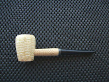 Missouri Meerschaum Corn Cob Tobacco Pipe Rob Roy Washington Straight Black Stem