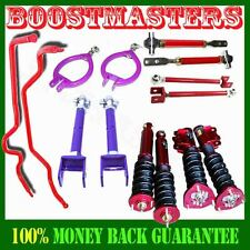Fits 1989-1994 240SX S13 ADJ Damper Coilover &Camber Kits Tension Rod &Swaybar