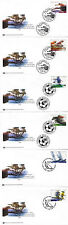 UNITED NATIONS 2005 INTERNATIONAL YEAR OF SPORT ON 6 FIRST DAY COVERS SHSs