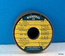 Nichrome wire 0.0225mm 51AWG 3120Ώ/m/952Ώ/Ft 156gr NIKROTHAL LX KANTHAL RARE