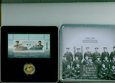 1910-2010 CANADA NAVY GOLD PLATE DOLLAR AND STAMP SET MINT IN CASE