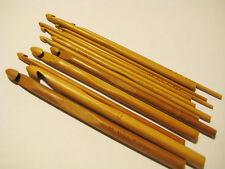 14 SIZES carbonized patina bamboo crochet hooks US2-17/C-P (2.75 mm-12 mm)