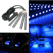 4x Ultra Blue 5050 Car 12LED Strip Interior Underdash Floor Atmosphere Light us