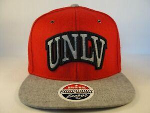 UNLV Rebels NCAA Zephyr Snapback Hat Cap Red Gray