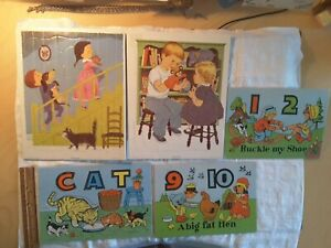 Vintage Playskool Puzzles 2, Plus 3 Smaller Other Puzzles, Lot of 5 Puzzles