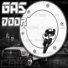 Billet Chrome Fuel Gas Door w/ lock For 09 10 11 Dodge Ram 1500 2500 3500