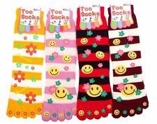 4 pair Ladies Girls Warm Five Fingers Toe Socks Bed Lounge Socks Xmas Idea Gift
