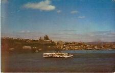 1956 Postmark S.S. Richelieu Quebec Canada Postcard Steamship Line Boat