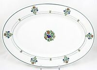 """FAB ART DECO ANTIQUE 13"""" OVAL SERVING PLATTER ST. ALBANS SYRACUSE RAILROAD CHINA"""