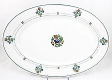 "FAB ART DECO ANTIQUE 13"" OVAL SERVING PLATTER ST. ALBANS SYRACUSE RAILROAD CHINA"