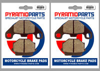 Front & Rear Brake Pads for KTM EGS 250 Brembo Calipers 1989