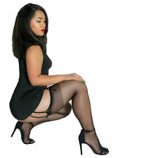Coquette Thigh High Sheer Stockings - Reg and Plus Sizes - Use With Garter Belt