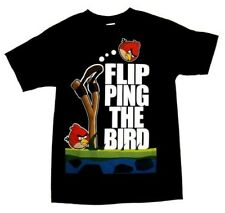 ANGRY BIRDS ~ FLIP PING the BIRD ~ T-Shirt ~ Men's S Small  ~ NEW