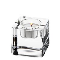 Orrefors Ice Cube Crystal Art Glass Votive Candle Holder Goran Warff NEW