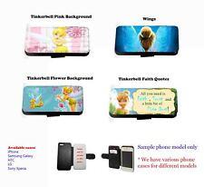 Tinkerbell Hada comillas Inspirado Cuero Funda De Teléfono set2 para Samsung LG Xperia