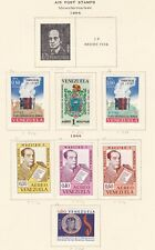 VENEZUELA ^^^1964  mint hinged AIRPOSTS  on page   $$@ ta300vene