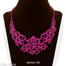 Piece Bib Ladies Womens Goth Boho New Pink Choker Elegant Necklace Statement