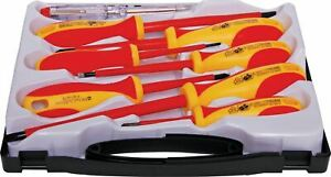 8 piece insulated 1000v screwdriver kit includes 2.5,4,5.5, 6.5mm slotted T2194A