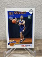 2019-20 NBA Hoops Zion Williamson Tribute Rookie card RC Pelicans #296