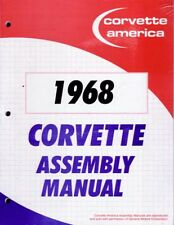 1968 Corvette Assembly Manual Rebuild Book Overhaul Instructions Illustrations