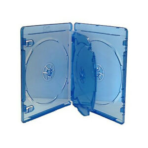 1 x 4 Way Blu-Ray Quad Case 4 Discs Full Outer Clear Sleeve 14mm High Quality