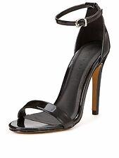Shoe Box Isabella Two Part Heeled Sandals - Black UK 8 EU 41 JS29 66