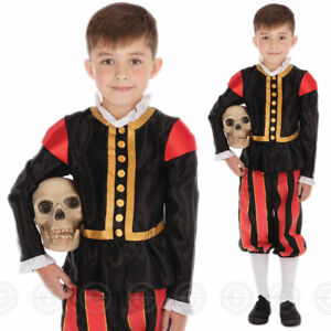 BOYS WILLIAM SHAKESPEARE FANCY DRESS COSTUME MEDIEVAL TUDOR WORLD BOOK DAY WEEK