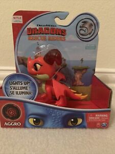 NETFLIX DRAGONS RESCUE RIDERS AGGRO FIGURE CHEST LIGHTS UP NEW IN BOX