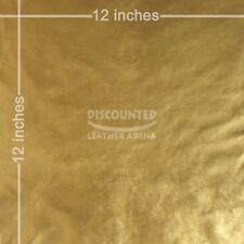 "New Gold Soft Garment Quality Real Leather Lambskin Swatch 12"" X 12"""