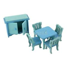 Wooden Doll House Furniture Dinning Dollhouse Miniature For Kids Play Toy