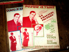 lot de 2 partitions du film Chanteur Inconnu valses chantées piano chant 1931