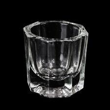 1pc Crystal Glass Dappen Dish / Lid Bowl Cup Crystal Glass Dish Nail Art Tools
