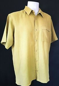"COLUMBIA Mens Light Green Hemp S/S SUMMER SHIRT - XL - Chest 50"" - £55"