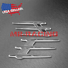 Universal ABS Chrome Stripe Fender Grill Body Side Vents For Car SUV Decoration
