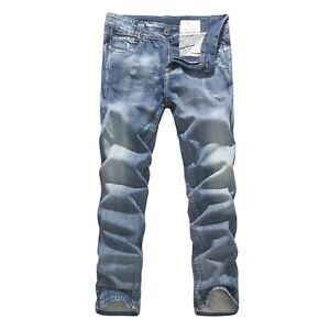 FOX JEANS Men's Merlin Regular Fit Straight Blue Denim Jeans SIZE 36