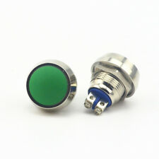 12mm Starter Switch / Green Momentary Metal Push Button Switch