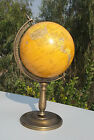 Antique Vintage Replogle Globe World Classic Seriese Raised With Metal Base