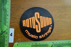 Alter Aufkleber Musikinstrument Gitarre ROTO SOUND Music Strings
