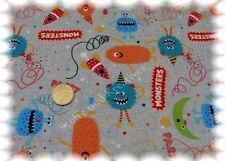 Monster Party sudadera sustancia gris hilco monstruos de tela 50 cm de niños sustancias coser