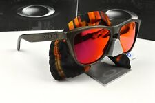 New Oakley Frogskins Fall Out Sunglasses Brown Decay / Ruby Iridium Lens 24-4