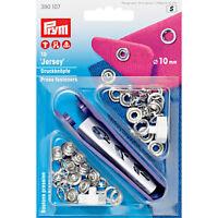 Prym Jersey Druckknopf Druckknöpfe 10mm silber mit Werkzeug  390107